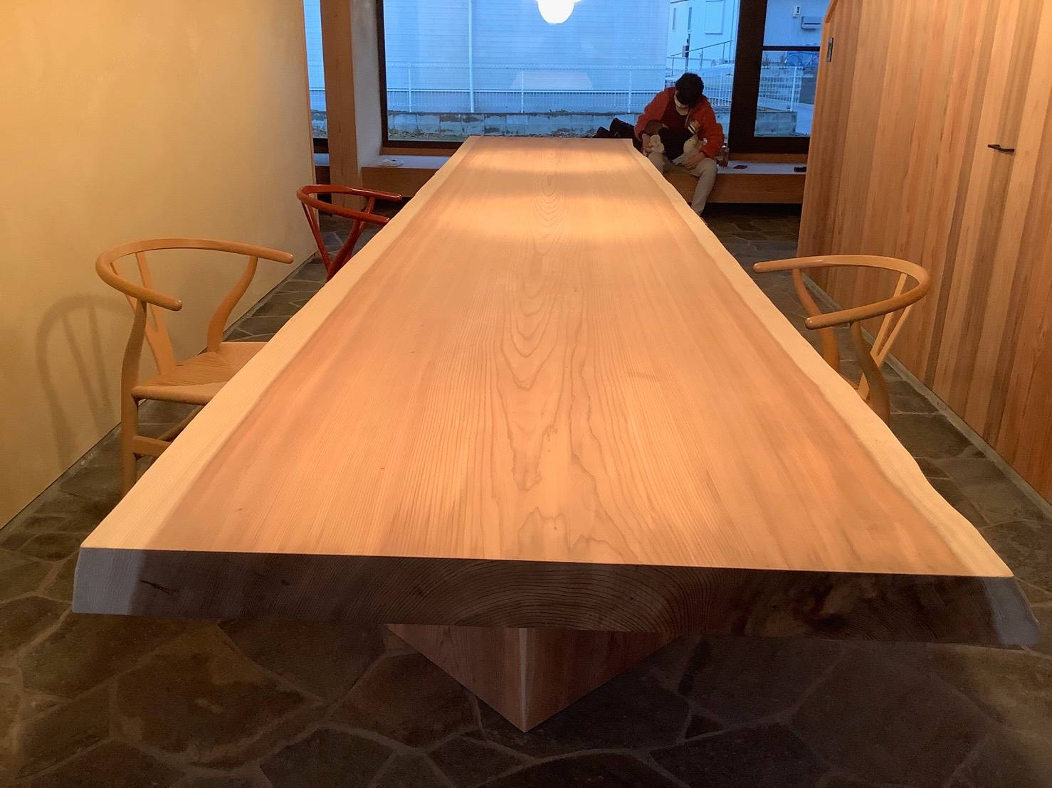 杉 4m一枚板のテーブル